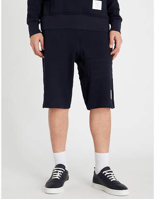Thom Browne Logo-patch cotton-jersey shorts