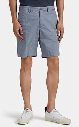 Theory Men's Zaine Striped Cotton Oxford Shorts - Blue