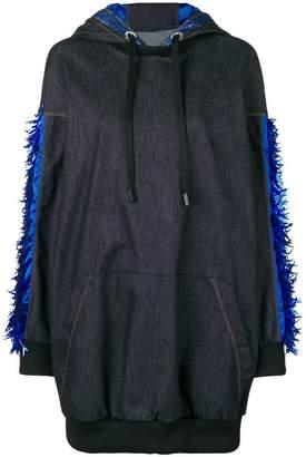 NO KA 'OI No Ka' Oi oversized denim hoodie