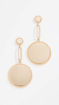 Rebecca Minkoff Double Medallion Drop Earrings