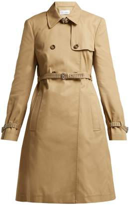 RED Valentino Studded double-breasted cotton-blend trench coat