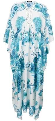 Roberto Cavalli printed smock maxi dress
