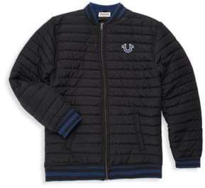 True Religion Boy's Quilted Bomber Jacket