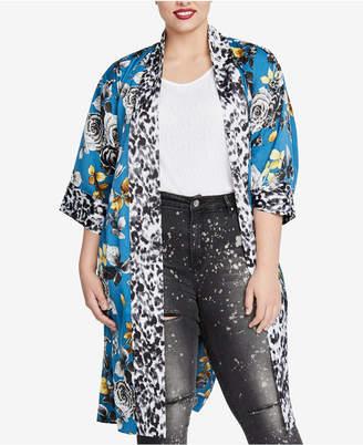 Rachel Roy Trendy Plus Size Printed Kimono