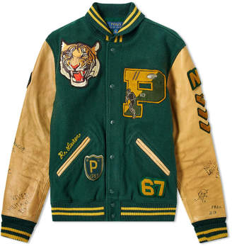 Polo Ralph Lauren Leather Sleeve Varsity Jacket