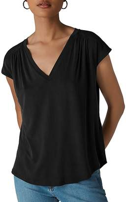 Whistles Shirred Shoulder Top