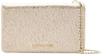 Lancaster metallic clutch bag