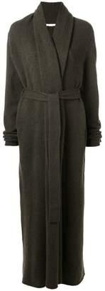 The Row open shawl lapel cardi-coat