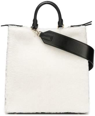 Jil Sander shearling tote bag