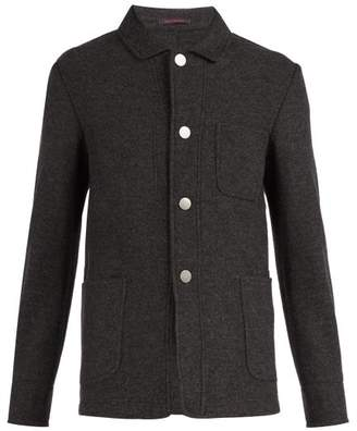 The Gigi - Point Collar Wool Blend Blazer - Mens - Grey