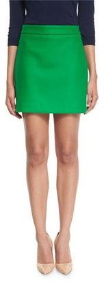 Milly Double-Face Stretch-Wool Mini Skirt $250 thestylecure.com