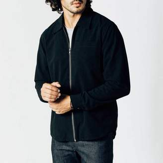 DSTLD Mens Zip Shirt in Black