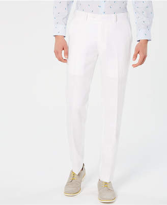 Bar III Men Slim-Fit White Suit Pants