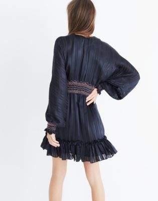 Madewell Ulla Johnson Silk Odette Smocked Mini Dress