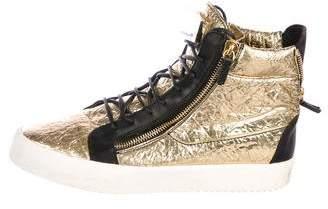 Giuseppe Zanotti Metallic Foil Sneakers