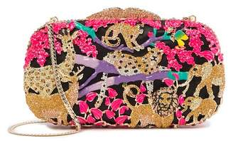 Natasha Accessories Jungle Crystal Clutch