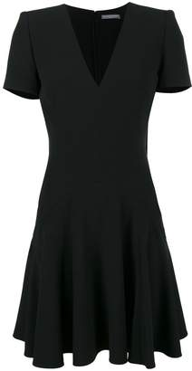 Alexander McQueen V-neck short sleeve dress