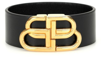 Balenciaga BB leather bracelet