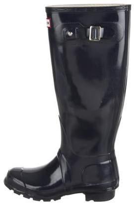 Hunter Knee-High Rain Boots Navy Knee-High Rain Boots