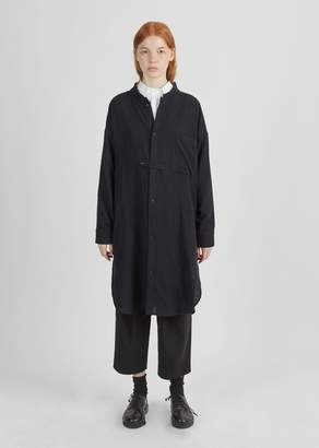 Y's Wool Gauze Shirt Dress Navy