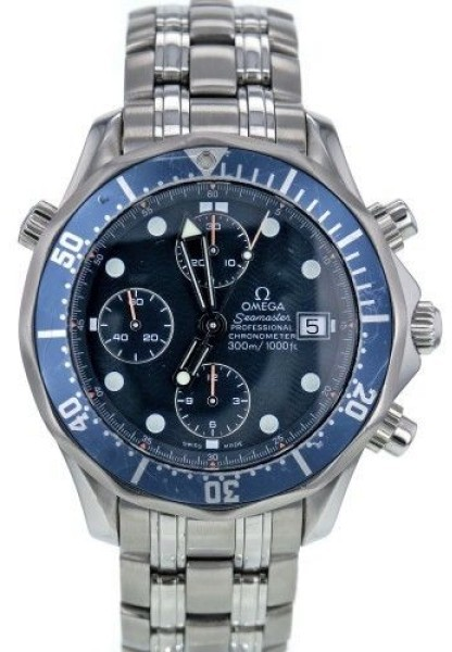 Omega Omega Seamaster 25998000 Stainless Steel Blue Chronometer Dial Automatic 41.5mm Mens Watch
