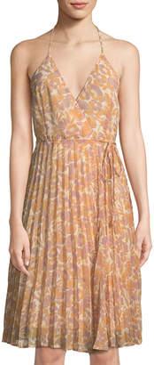 Astr Marcela Floral Wrap Halter Dress