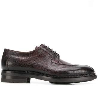 Santoni textured gradient Derby shoes
