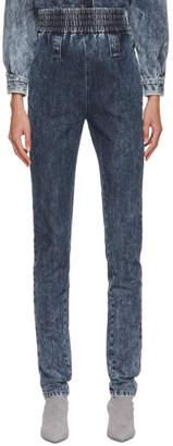 Miu Miu Blue Ruched Jeans