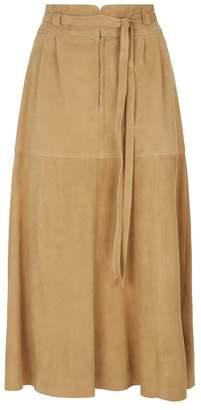 Polo Ralph Lauren Suede Midi Skirt