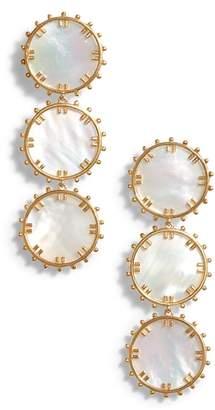 Asha Manou Mother-of-Pearl Drop Earrings