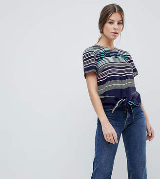 Oasis Rainbow Striped Tie Front T-Shirt