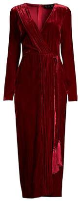 Rachel Zoe Aly Velvet Wrap Dress