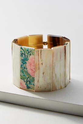 Anthropologie Retro Floral Cuff Bracelet