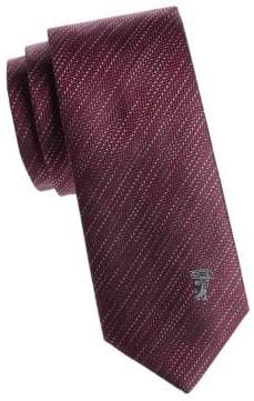 Versace Textured Striped Silk Tie