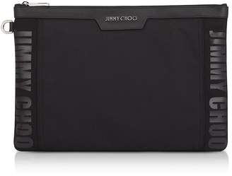 Jimmy Choo Canvas And Woven Nylon Clutch