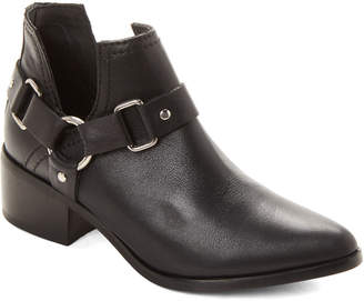 b4c737ddb11 Steve Madden Steven By Black Lee Harness Leather Ankle Booties