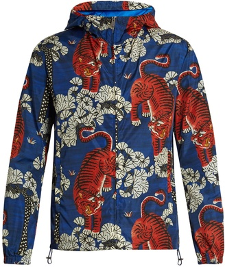 GUCCI Tiger-print hooded jacket $1,490 thestylecure.com