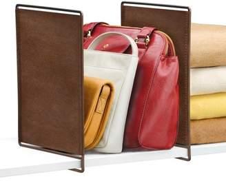 Lynk Vela Shelf Dividers, Closet Shelf Organizer (Set of 2) - Bronze