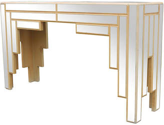 One Kings Lane Vintage Art Deco-Style Mirrored Console - Something Vintage