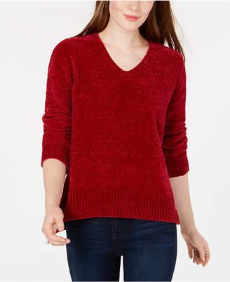 Maison Jules V-Neck Chenille Sweater, Created for Macy's