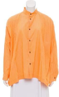 eskandar Oversize Striped Tunic