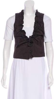 Robert Rodriguez Ruffle-Accented Button-Up Vest