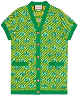 Gucci GG stripe wool jacquard vest