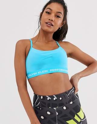 ff4d93572190b Calvin Klein adjustable sports bra in blue