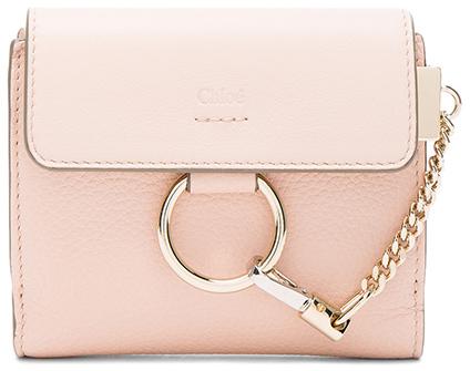 Chloé Chloe Leather Faye Square Wallet