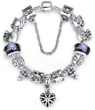 Pandora AmaranTeen - 925 Silver Glass Beads Charm Fits Bracelet & Bangle
