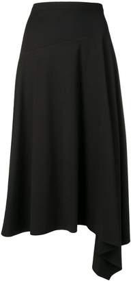 Sportmax Code asymmetric midi skirt