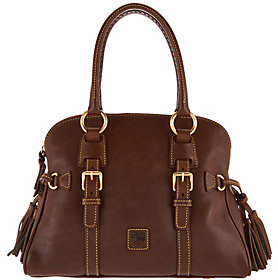 Dooney & Bourke Florentine Leather Domed Buckle Satchel $379 thestylecure.com