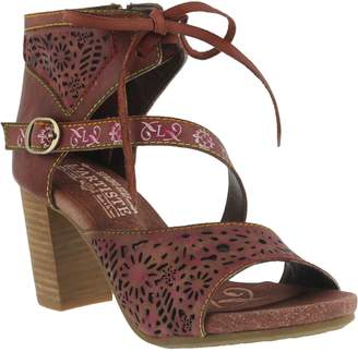 Spring Step L'Artiste By Leather Perforated Sandals - Sujala