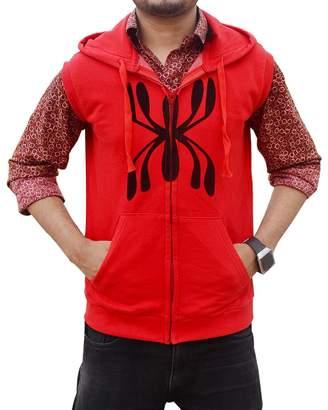 Spiderman Shop4Jacket Homecoming Vest - Peter Parker Sleeveless Hoodie Vest